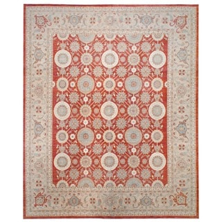 Herat Oriental Afghan Hand-knotted Vegetable-dyed Wool Rug (12' x 14'7)