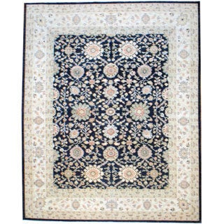 Herat Oriental Afghan Hand-knotted Vegetable-dyed Wool Rug (11'7 x 14'8)
