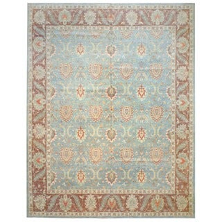 Herat Oriental Afghan Hand-knotted Vegetable-dyed Wool Rug (13'4 x 17'7)