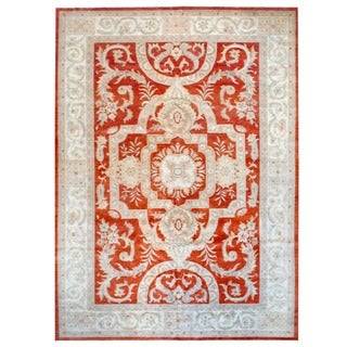 Herat Oriental Afghan Hand-knotted Vegetable Dye Wool Rug (11'8 x 16'3)