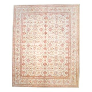 Herat Oriental Afghan Hand-knotted Vegetable-dyed Wool Area Rug (12' x 14'9)