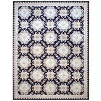 Herat Oriental Afghan Hand-knotted Vegetable Dye Wool Rug (12' x 15'8)