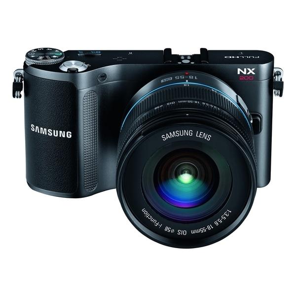 Samsung NX200 20.3 Megapixel 3D Mirrorless Camera with Lens - 18 mm -