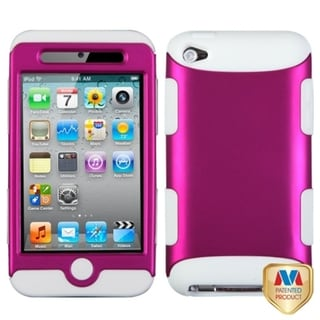 INSTEN Pink/ White TUFF iPod Case Cover for Apple iPod Touch Generation 4