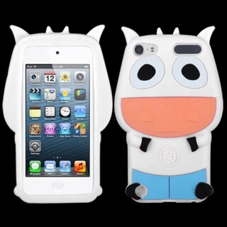 Insten White/ Light Blue 3D Cow Silicone Skin Gel Rubber Case Cover For Apple iPod Touch 5th/ 6th Gen