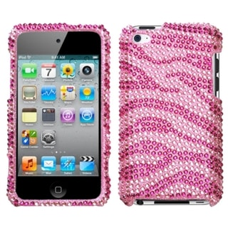 INSTEN Zebra Diamond iPod Case Cover for Apple iPod Touch Generation 4