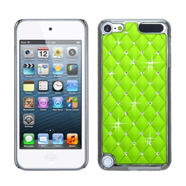 INSTEN Pearl Green Silver Case Cover for Apple iPod Touch Generation 5