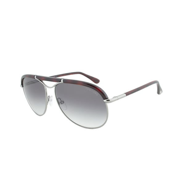 Tom Ford FT0235 14B Marco Tortoise and Palladium Framed Aviator Sunglasses with Grey Gradient Lens