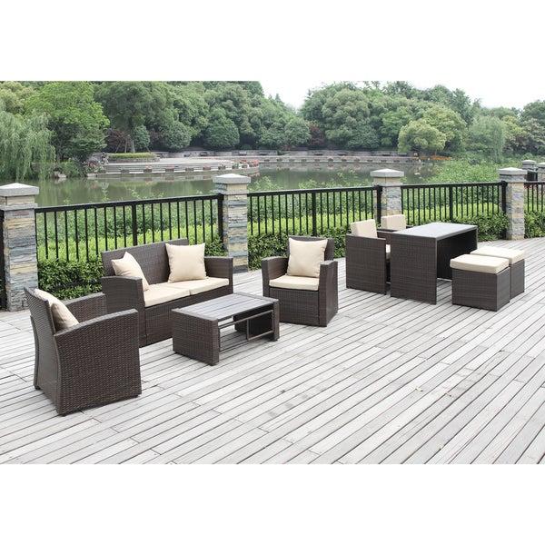 Handy Living Kenyon Valley Brown Piece Indoor Outdoor Living - Outdoor living room set