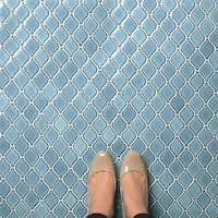 SomerTile 9.875x11.125-inch Casablanca Orion Porcelain Mosaic Floor and Wall Tile (10 tiles/7.6 sqft.)