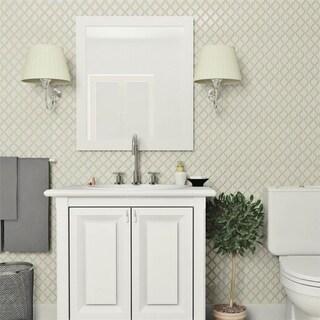 SomerTile 9.875x11.125-inch Casablanca Selene Porcelain Mosaic Floor and Wall Tile (10 tiles/7.6 sqft.)