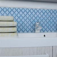 SomerTile 9.75x11-inch Casablanca Aella Porcelain Mosaic Floor and Wall Tile (Case of 10)