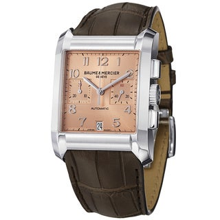 Baume Mercier Men's 'Hampton' Copper Dial Brown Strap Automatic Watch