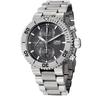 Oris Men's 674 7655 7253 MB 'Divers' Grey Dial Chronograph Automatic Titanium Watch