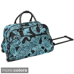 World Traveler Designer Prints Bandana 21-inch Carry-on Rolling Duffel Bag