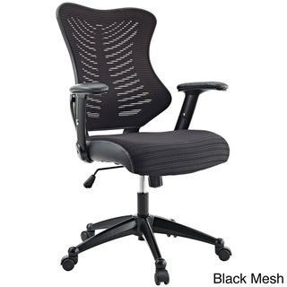 Porch & Den Williamsburg Office Chair with Black Mesh Back and Seat