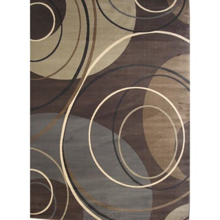 Solaris Brown Area Rug (5'2 x 7'6)