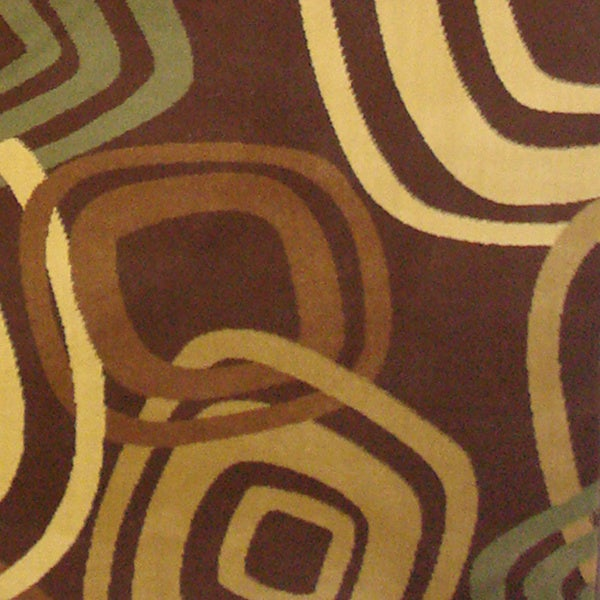 Test Pattern Brown Area Rug (7'10 x 10'11)