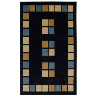 Blue Paver Area Rug (6'6x9'5)