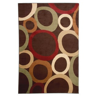 Area Rug Orbital Brown (6'6X9'5)