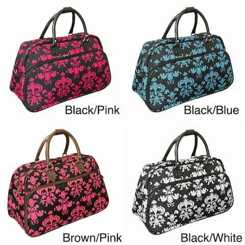 World Traveler Fashion/Travel Damask 21-inch Carry On Shoulder Tote Duffel Bag