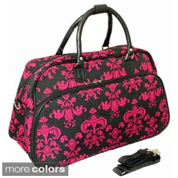 World Traveler Fashion/Travel Damask 21-inch Carry On Shoulder Tote Duffel Bag
