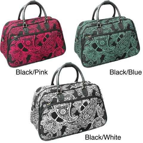 World Traveler Fashion/Travel Bandana 21-inch Carry On Shoulder Tote Duffel Bag