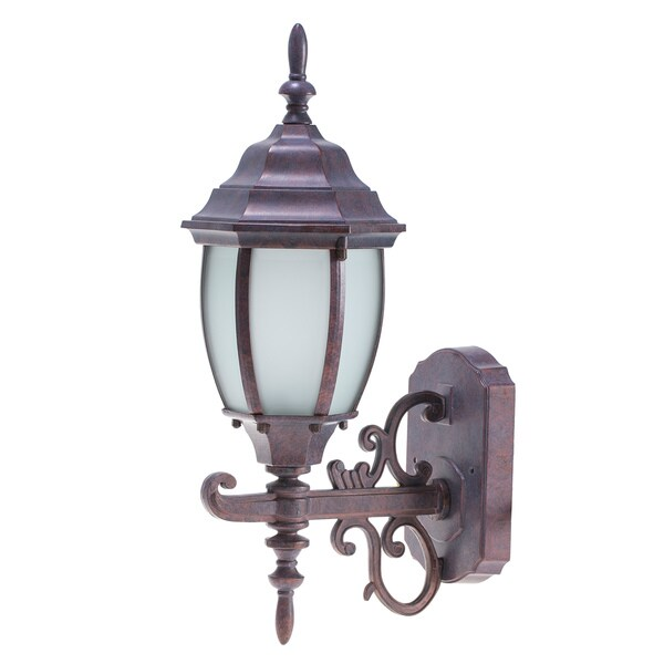 cast aluminum 1 light outdoor wall lantern free shipping on orders over 45. Black Bedroom Furniture Sets. Home Design Ideas