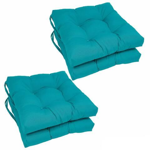 "Blazing Needles 16-inch Square Chair Cushions (Set of 4) - 16"" x 16"""