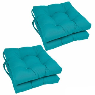 blazing needles 16 x 16inch square twill dining chair cushions set of 4