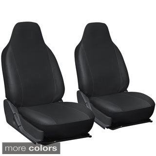 Oxgord Faux Leather Integrated High Back Bucket Seat Covers - Universal Fit for Cars, Trucks, SUVs and Vans