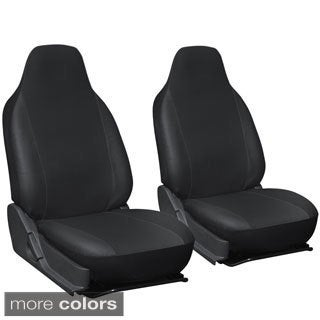 Oxgord Faux Leather Integrated High Back Bucket Seat Covers - Universal Fit for Cars, Trucks, SUVs and Vans (More options available)