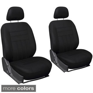 Oxgord 6-piece Black Cloth Universal Fit Bucket Seat Cover Set
