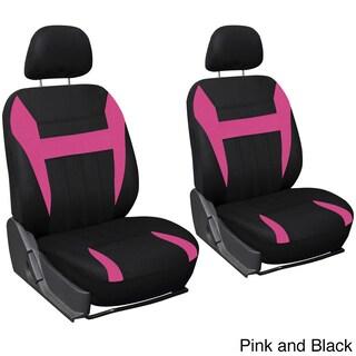 Oxgord 4-piece Universal Fit Cloth Bucket Seat Cover Set (Option: Pink/Black)