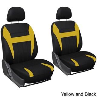 Oxgord 4-piece Universal Fit Cloth Bucket Seat Cover Set (Option: Yellow/Black)