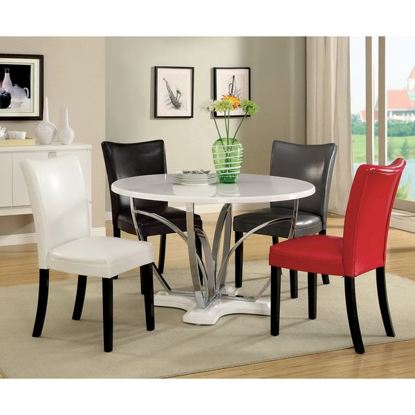 Shop Furniture Of America Relliza Contemporary High Gloss