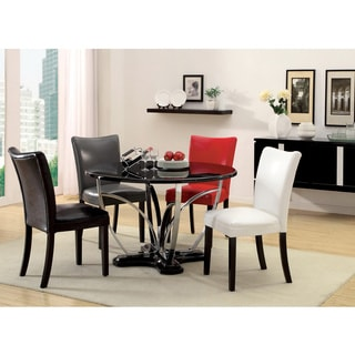 Furniture of America Relliza 5-piece Contemporary Black Finish High Gloss Lacquer Dining Set