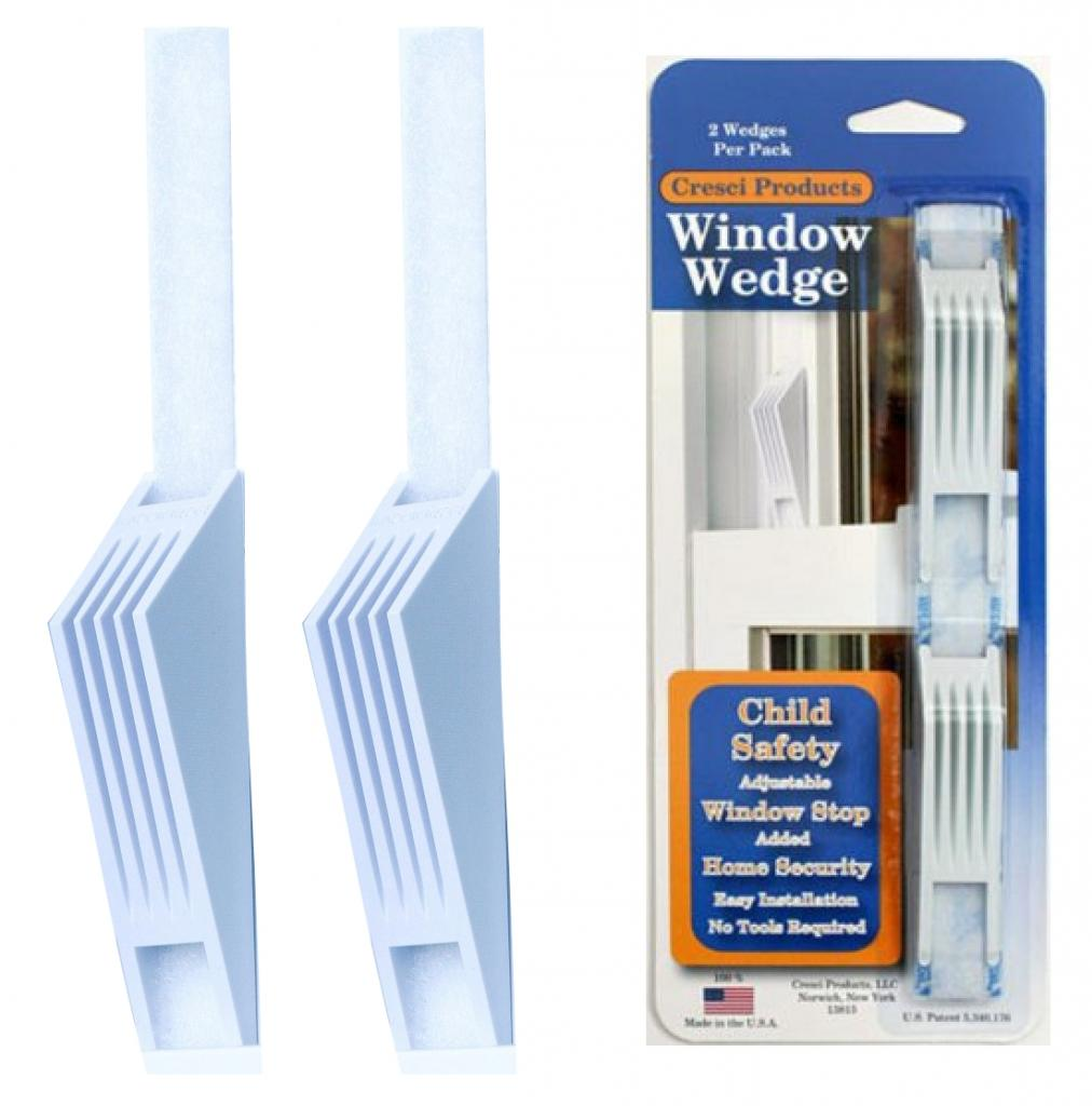 Cresci Products Window Wedges (Pack of 2) (2 Pack / White)