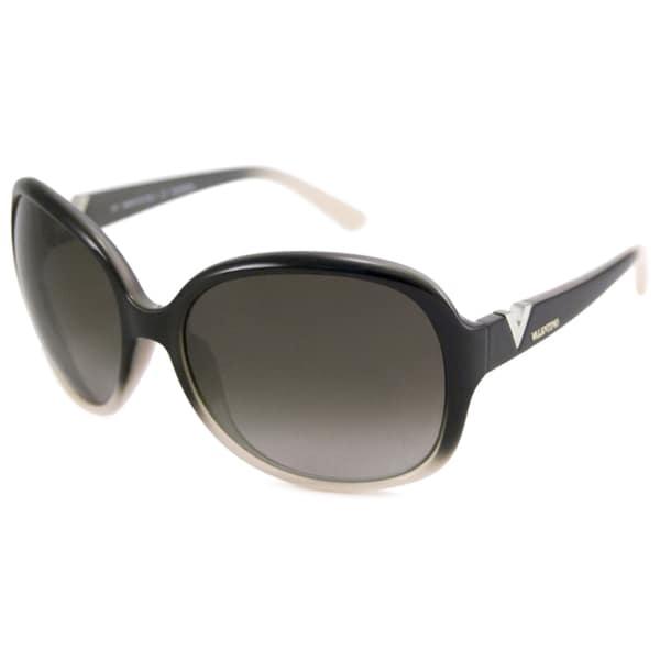 Valentino Women's V612S Rectangular Plastic Sunglasses