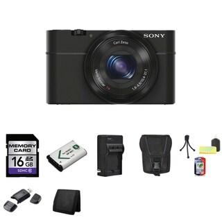 Sony Cyber-shot DSC-RX100 20.2MP Digital Camera with 16GB Bundle