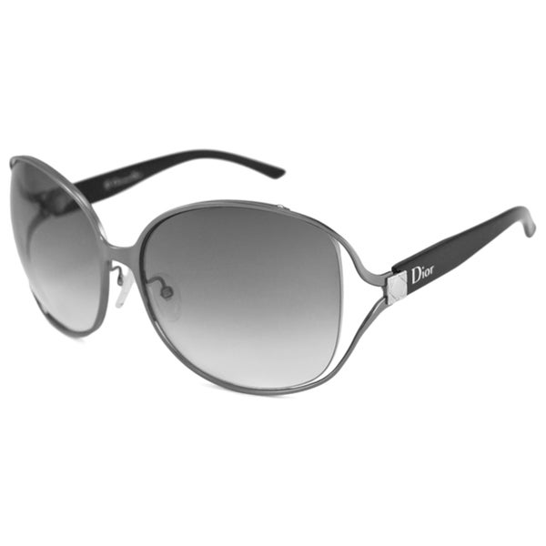 2c783221930e Christian Dior Women  x27 s Dior Suite K Rectangular Gunmetal-Black  Sunglasses with