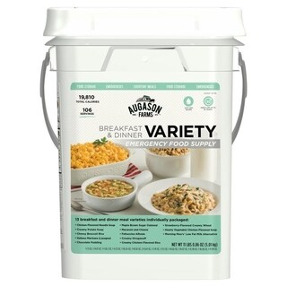 Augason Farms Breakfast & Dinner Variety Emergency Food Supply 7 lbs 5. 21 oz 4 Gallon Pail