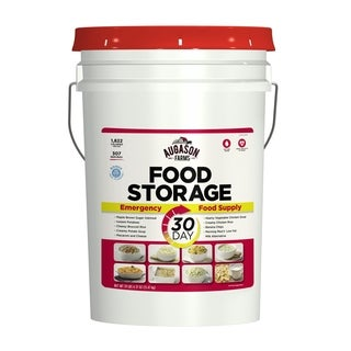 Augason Farms 1-Person 1-Year Emergency Food Storage Supply, 12 Pails - White