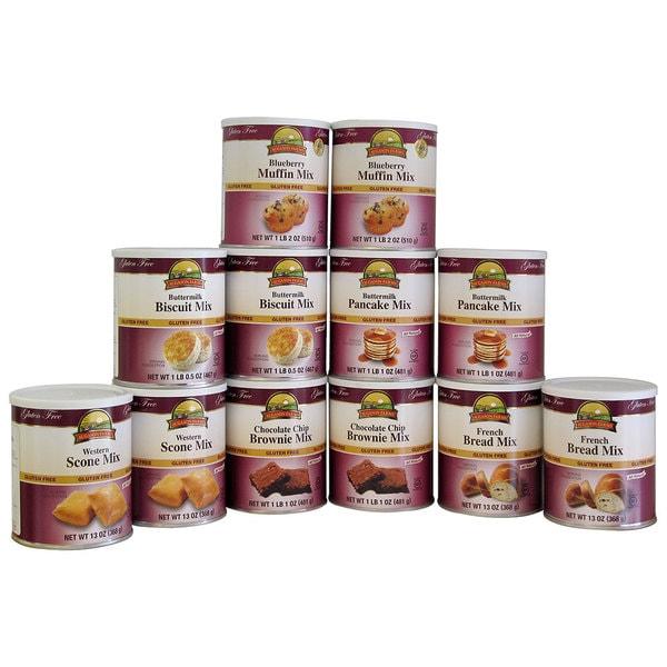 Augason Farms Bakery Kit Gluten-Free Food Storage (Pack of 12)