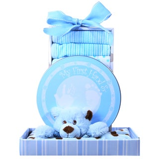 Alder Creek Gift Baskets 'Beary Cuddly Blue' Gift Box
