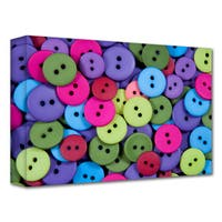 Dan Holm 'Buttons' Gallery-Wrapped Canvas - Multi