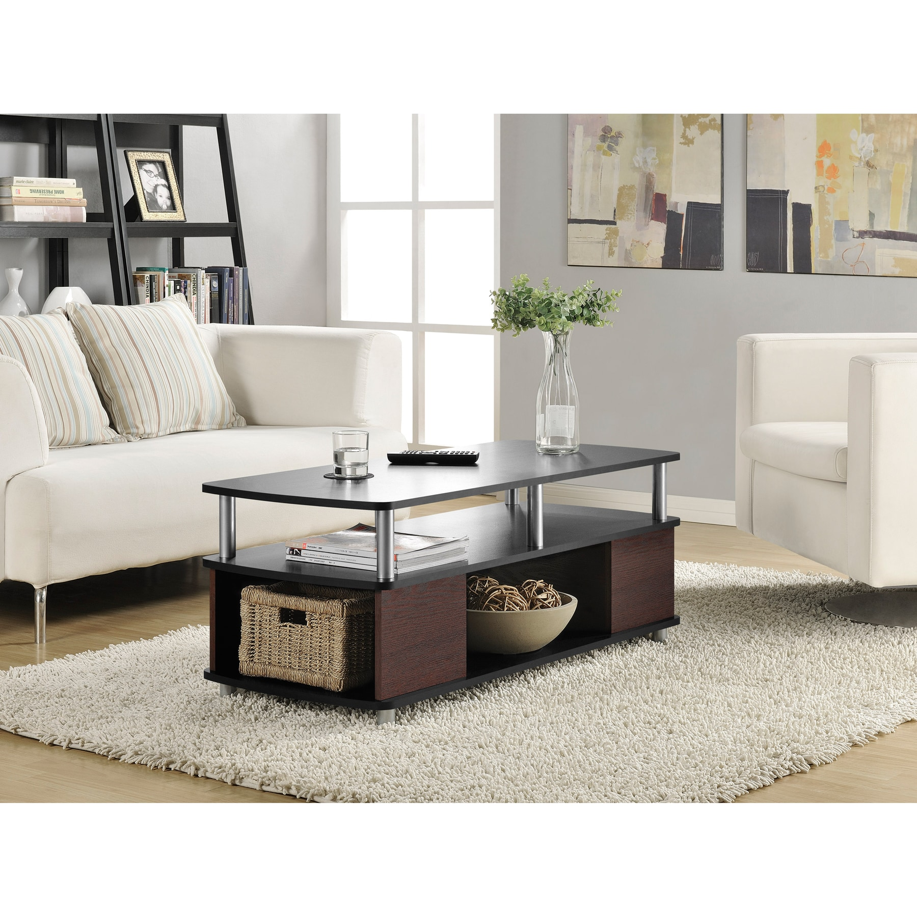 Wicker Park Leavitt Open Storage Coffee Table Free Shipping