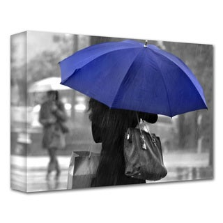 Dan Holm 'Rainy Blue' Gallery-Wrapped Canvas