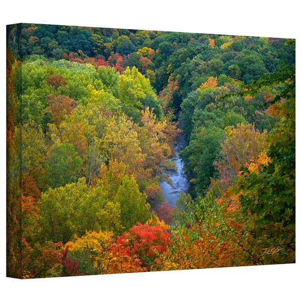Antonio Raggio 'Autumn Stream' Gallery-Wrapped Canvas