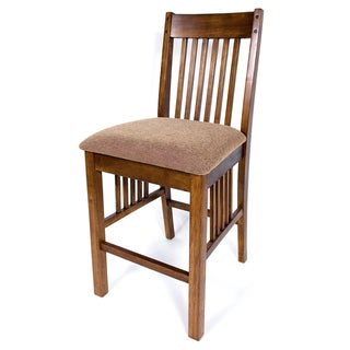 Solid Hardwood Mission Cushion 24 Inch Counter Height Barstool (Set Of 2)